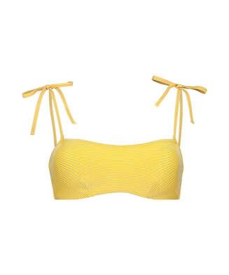 Carmel padded bandeau bikini top, Yellow