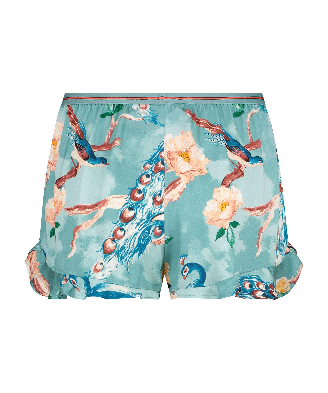 Pyjama shorts, Blue, main