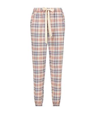 Check Pyjama Pants, Beige