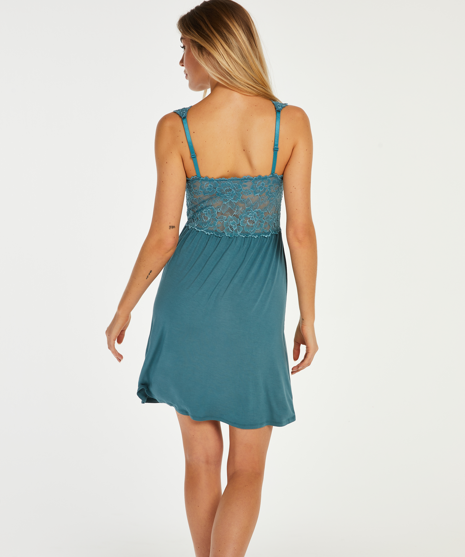 Nora Lace Slip Dress, Blue, main