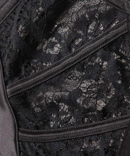 Hannako padded underwired bra, Black