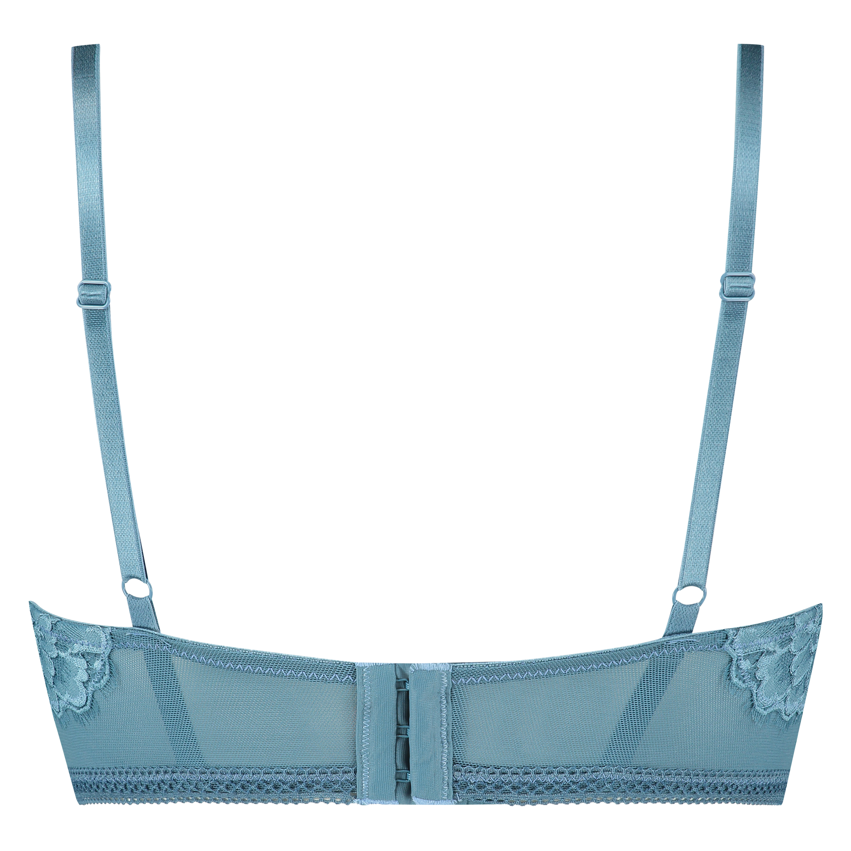 Lotte Padded Longline Underwired Bra, Blue, main