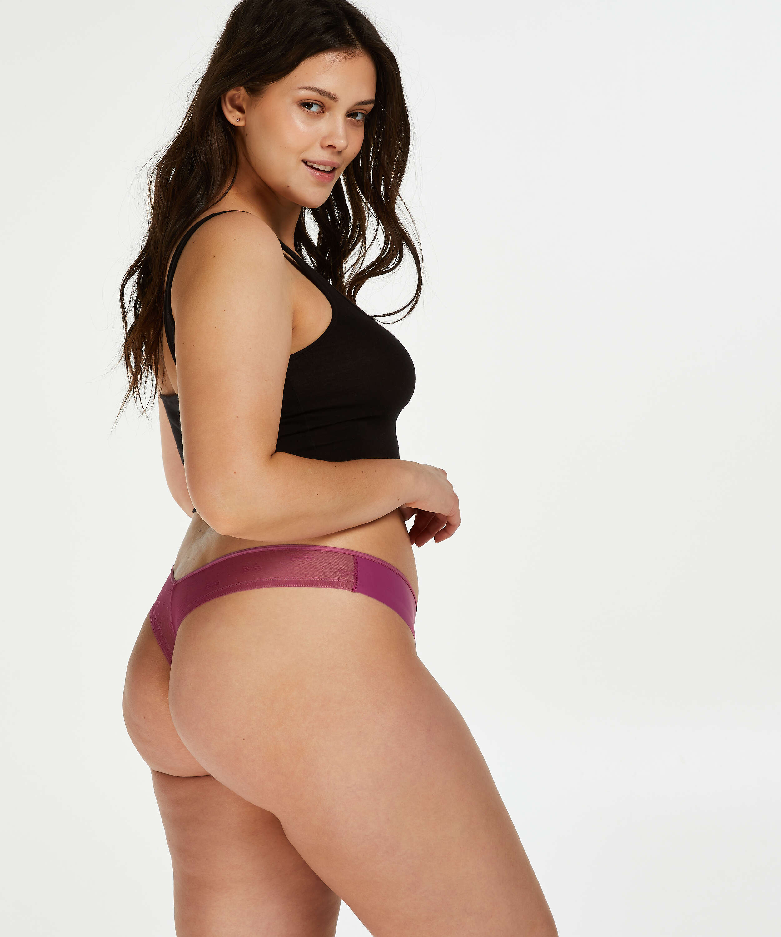 Invisible thong branded, Pink, main
