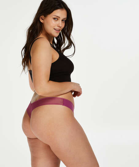 Invisible thong branded, Pink