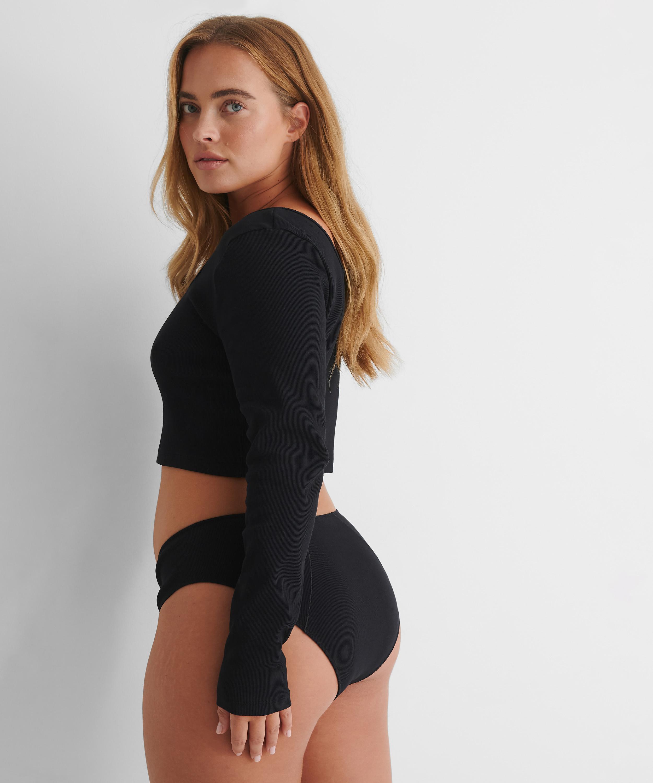 High waist brazilian Lenia HKM x NA-KD, Black, main