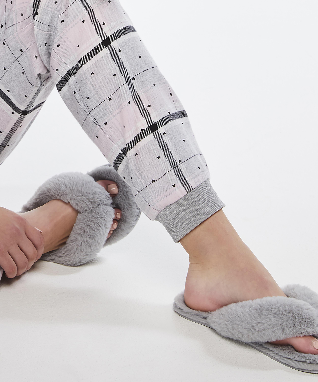 Fake Fur Slippers, Grey, main