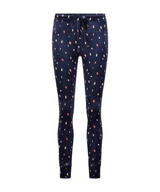Velvet leggings, Blue