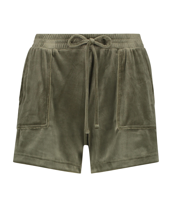 Velvet Pocket shorts, Green, main