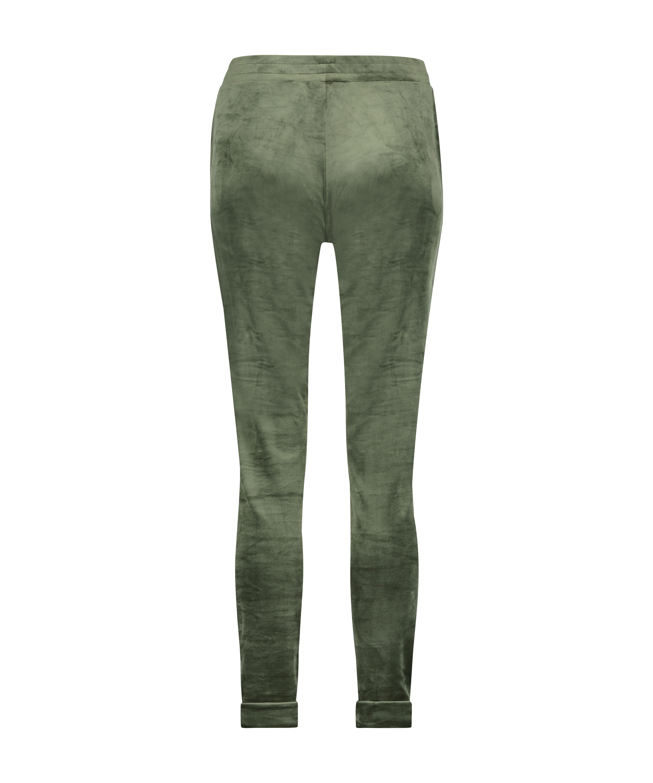 Petite Velours Jogging bottoms, Green, main