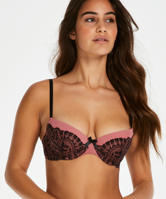 Coco padded underwired bra, Pink