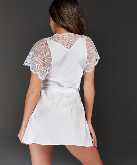 Cap Sleeve Kimono, White