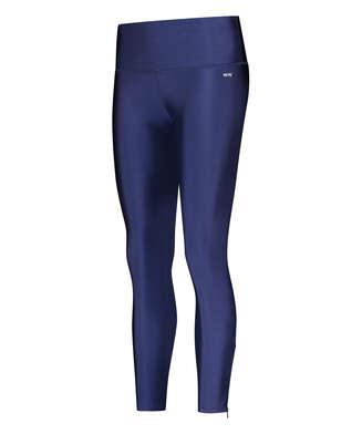 HKMX High Waisted Shine Sports leggings , Blue