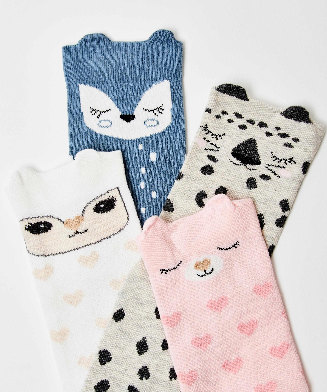 4 pack socks Bunny, White, main