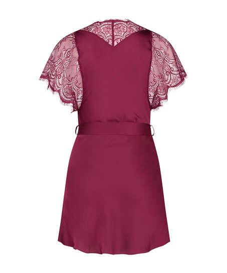 Cap Sleeve Kimono, Red