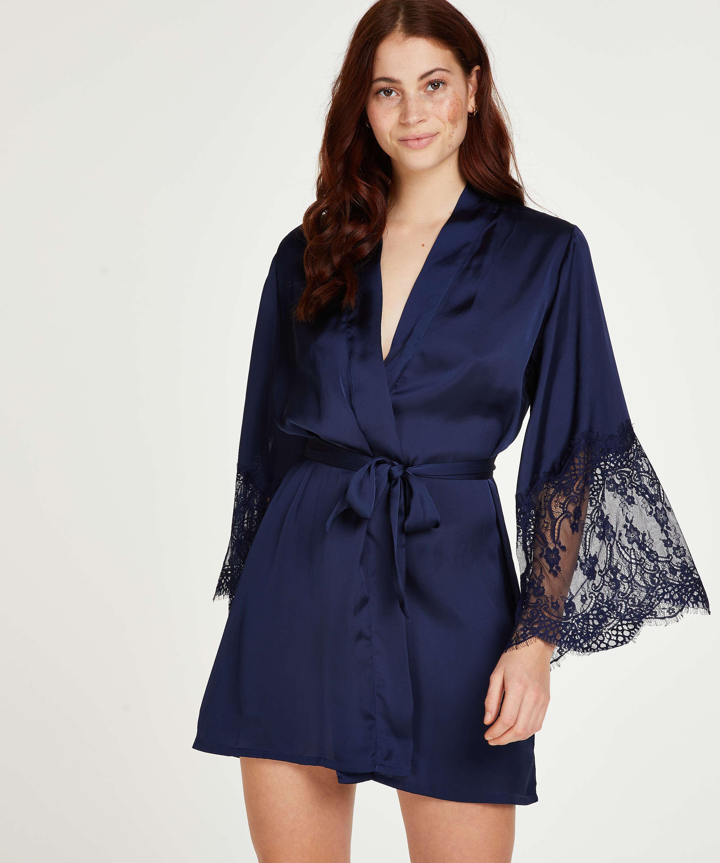 Satin Kimono, Blue, main