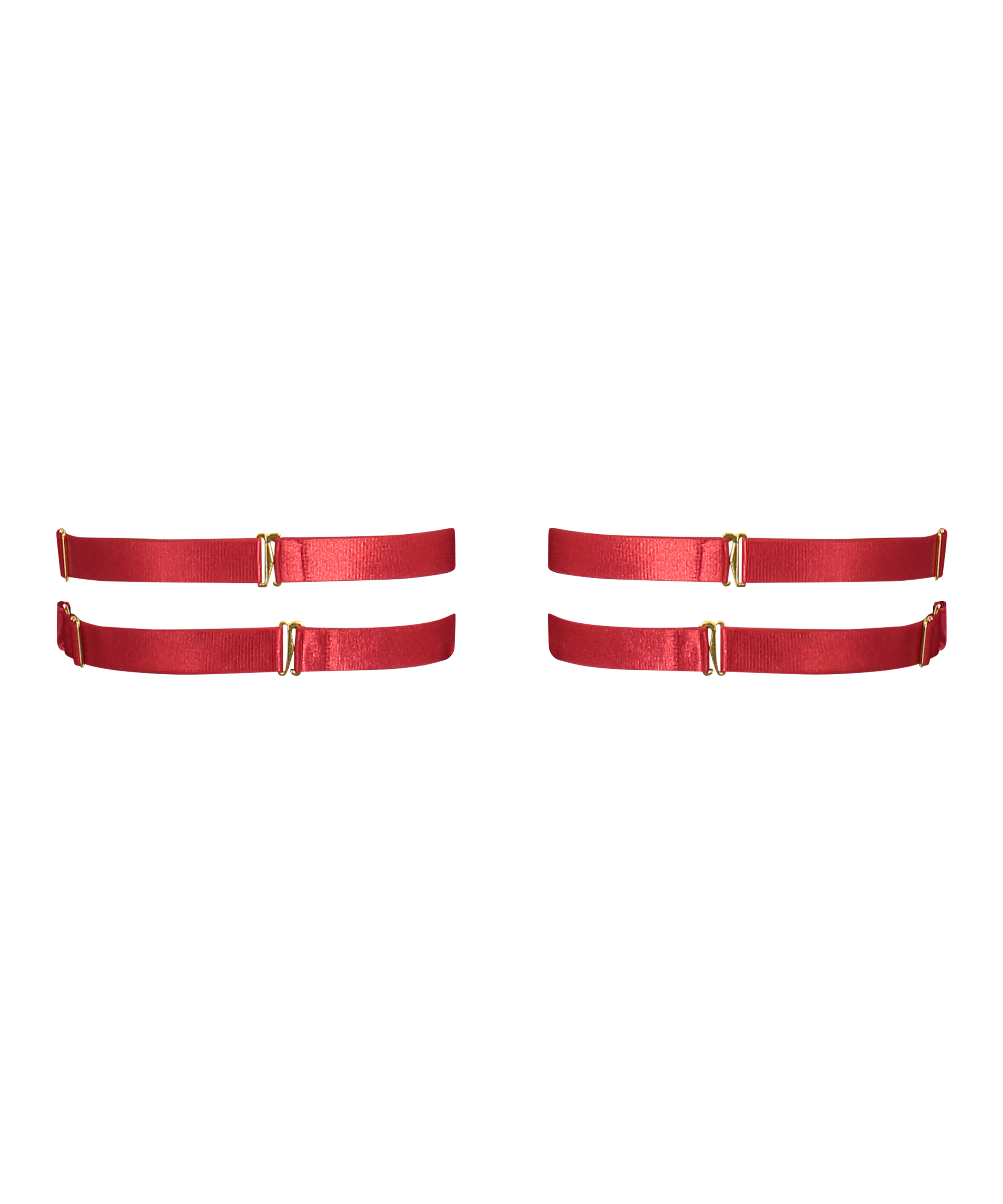 Heart Private Hold Up Suspenders, Red, main