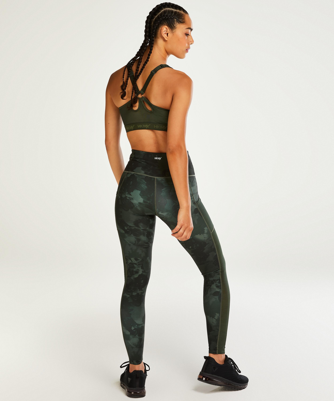 HKMX Sports bra The Pro Level 3, Green, main