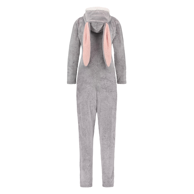 Novelty Fleece Onesie, Grey, main