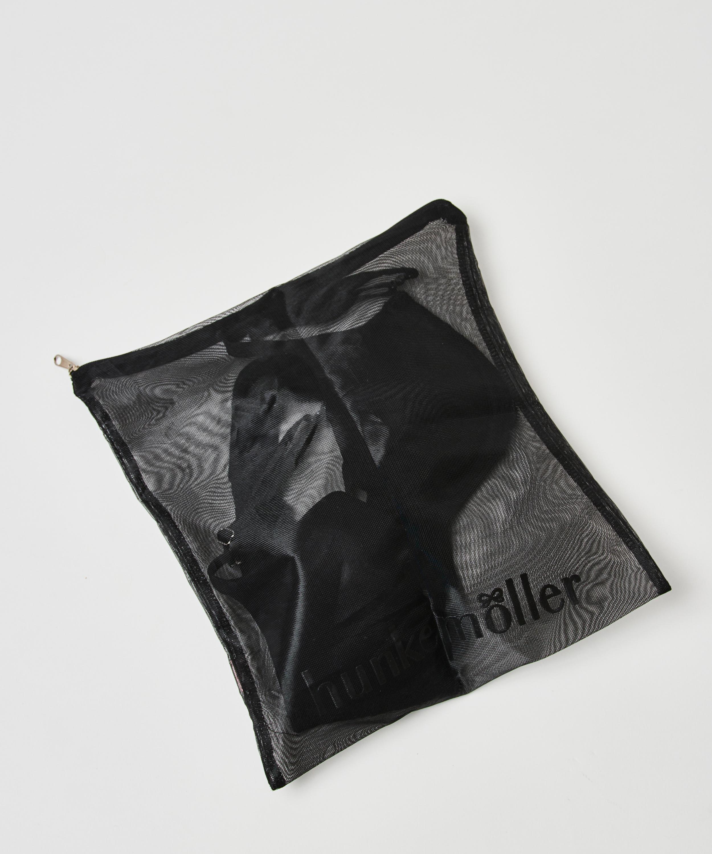 Hosiery bag zipper, Black, main