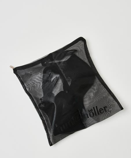 Hosiery bag zipper, Black