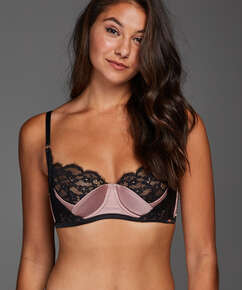 Poppy Padded Underwired Bra, Black