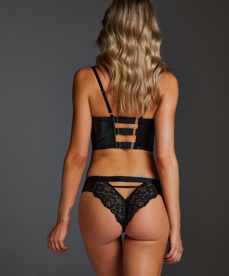 Talia Brazilian with open crotch, Black