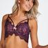 Marilee Padded Underwired Longline Bra, Purple