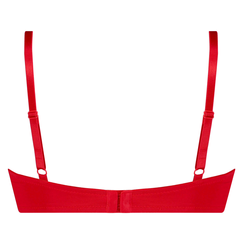 Plunge Padded Underwired Bra, Red, main