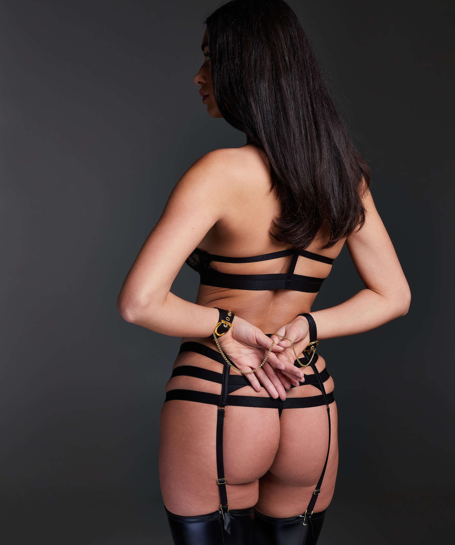 Ivy high waist thong, Black, main