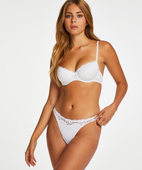 Secret Lace Thong, White