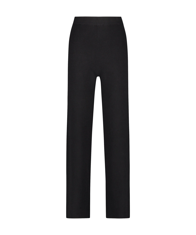 Premium Long Pants Knitted, Black, main