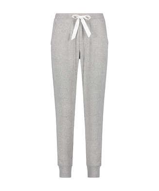 Brushed Rib Pyjama Pants, Grey