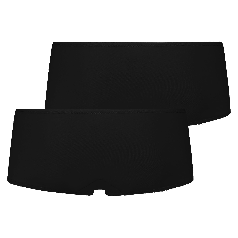 2 Cotton Boxers Kim, Black, main
