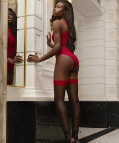 Effie 15 Denier Hold-Ups, Red