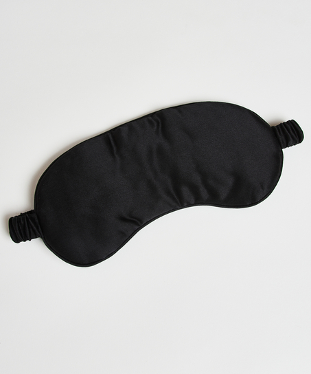 Sleep mask silk Noir, Black