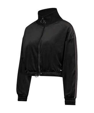 HKMX Sports jacket Velours, Black