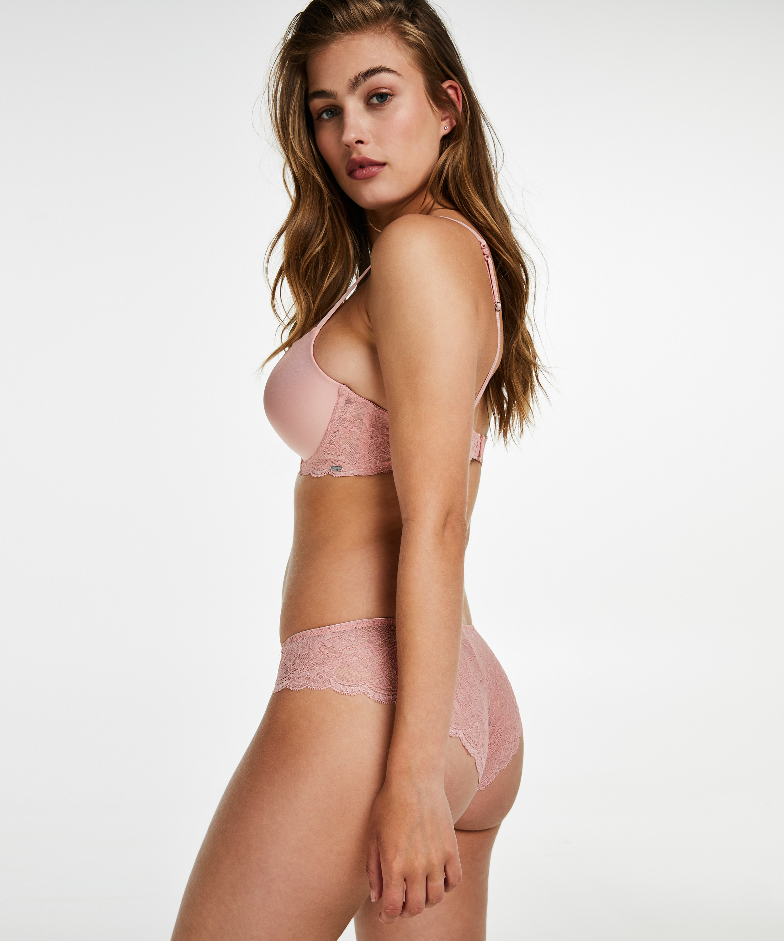 Angie Padded Underwired Bra, One & Only, Pink, main