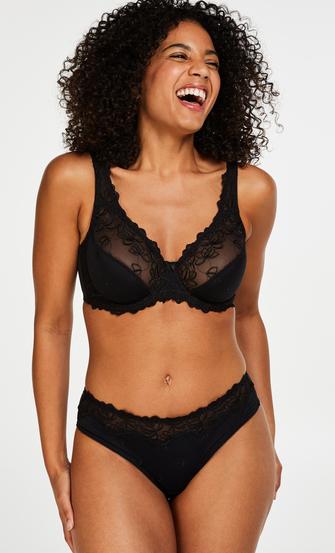 Diva thong short, Black