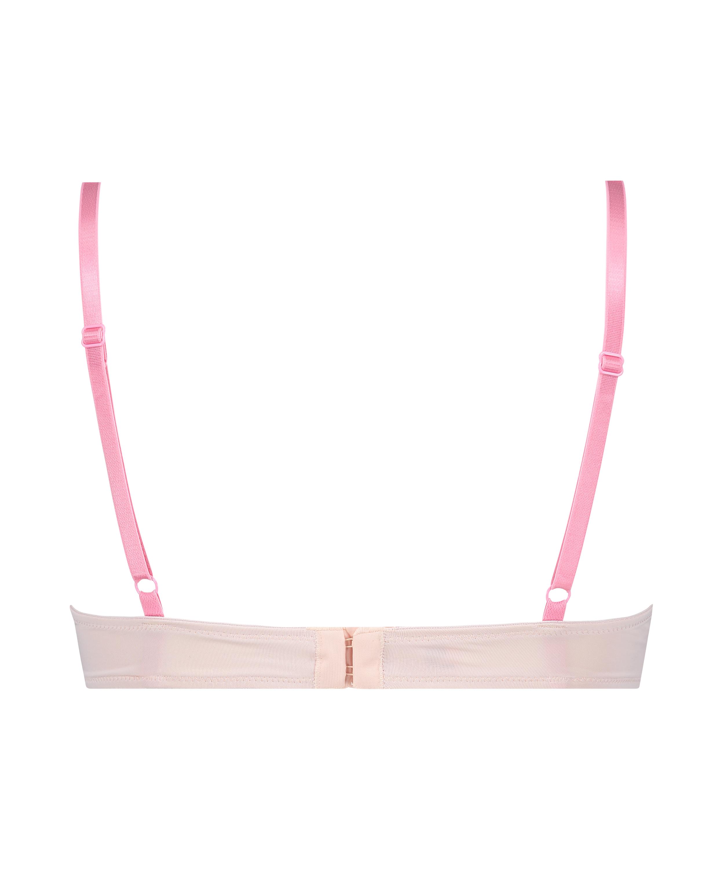 Plunge Padded Underwired Bra, Pink, main