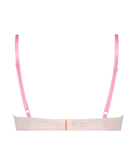 Plunge Padded Underwired Bra, Pink