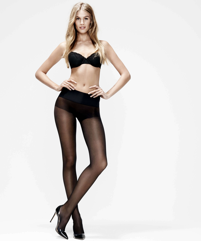 20 Denier seamless tights, Black, main