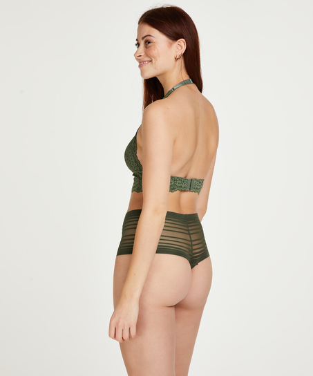 Invisible high thong, Green