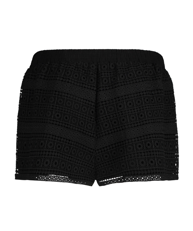 Crochet shorts, Black, main