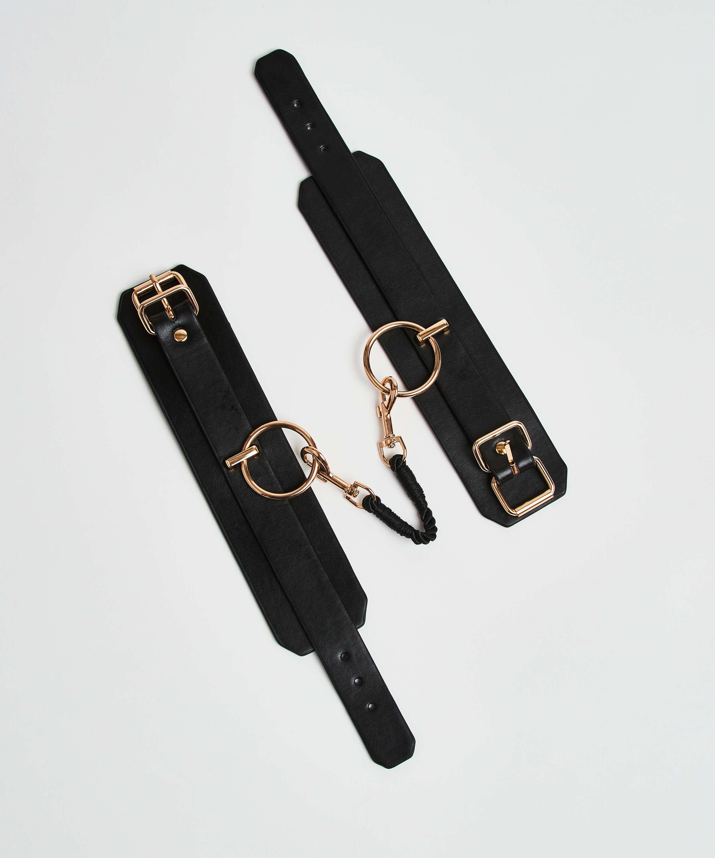 Private ankle cuffs, Black, main
