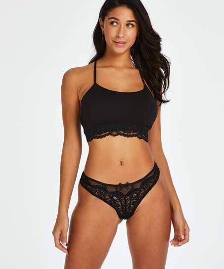 Louisa high leg Brazilian, Black