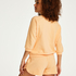 Three-quarter sleeve top Sweat French, Orange
