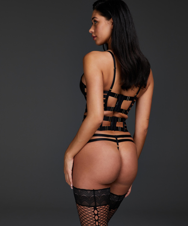 Vicky thong, Black, main