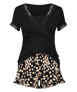 Daisy Maternity pyjama set, Black