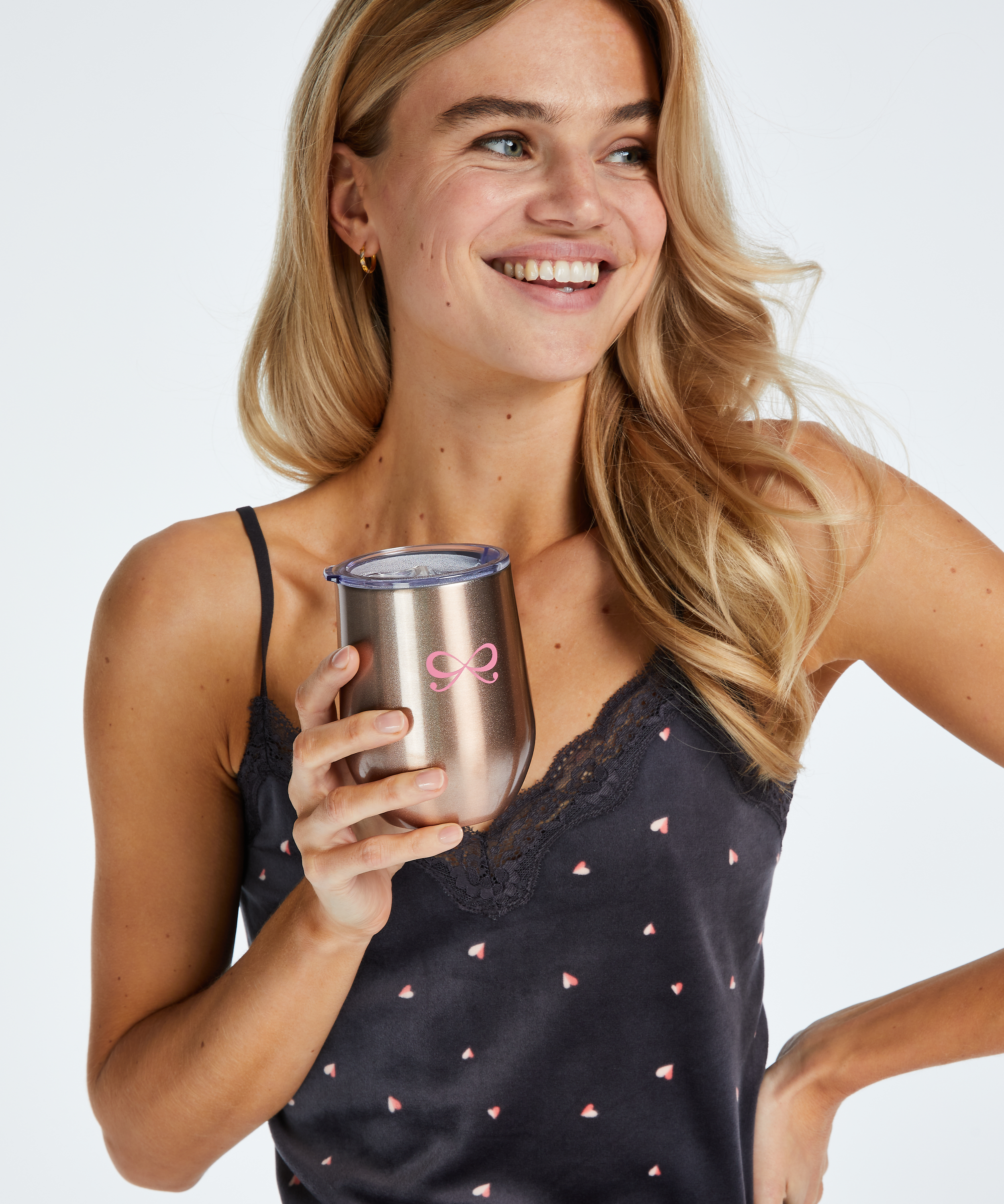 Thermo coffee cup, Pink, main