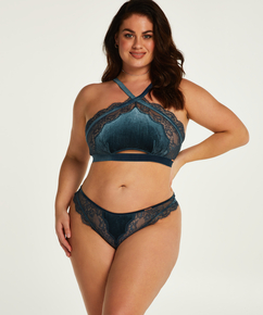 Janelle High-cut Thong Curvy Lucy Hale, Blue